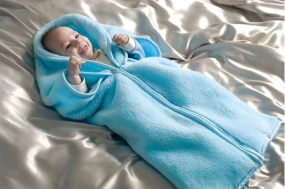 Bebê Manta Saco De Dormir Cobertor Azul Etruria