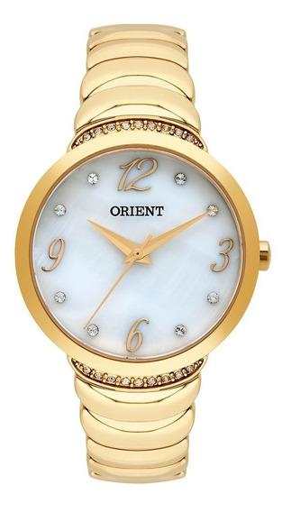 Relógio Orient Feminino Dourado C/ Pedras - Loja