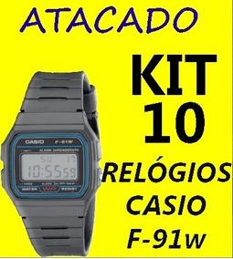 Kit Atacado Relógios Casio F-91w 10 Peças