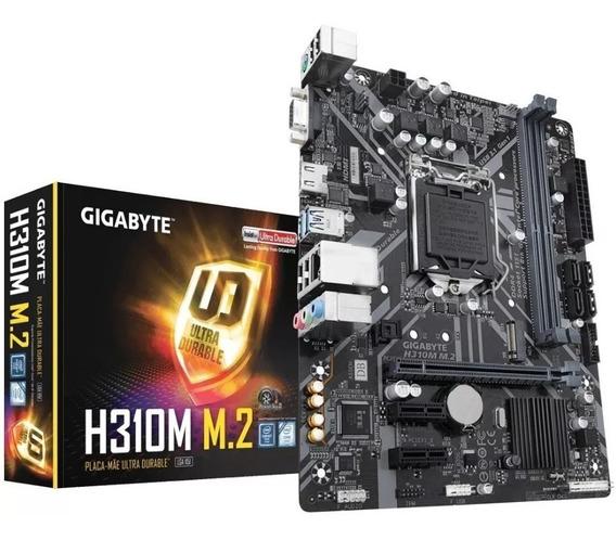 Placa Mãe Intel 1151 Gigabyte H310m M.2 2.0 Ddr4