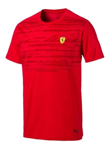 Camiseta Puma Ferrari Styfer Sf Tee Preta