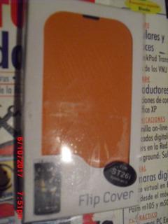 Flip Cover Forro Estuche Cuero / Plastico Xperia St26i Sony