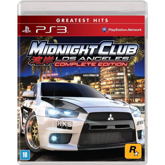 Midnight Club Los Angeles Ps3 Midia Digital Receba Hoje