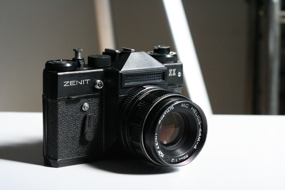 Câmera Zenit Ii (tudo Ok) E Lente Helios 44m-4 (p/ Limpeza)