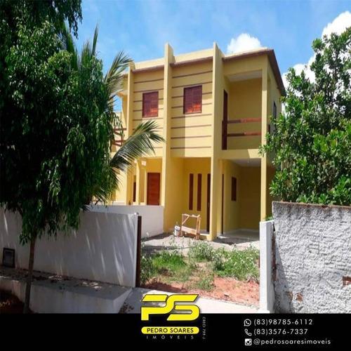 Casa Duplex Com 3 Dormitórios À Venda Por R$ 190.000 - Barra De Cunhaú - Canguaretama/rn - Ca0606