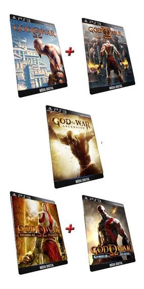 Combo Deus Da Guerra A Saga Ps3 Jogo Digital Psn
