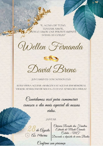 Imagem 1 de 1 de Convite De Casamento