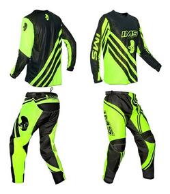 Conjunto Roupa Calça Camisa Motocross Trilha Ims Light Fluor