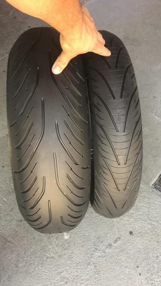 Pneus 120/70/17 E 190/55/17 Michelin Pilot Road 4 Usados