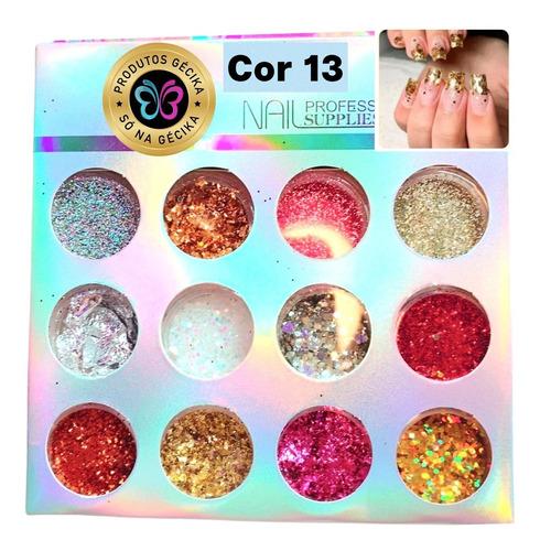 Imagem 1 de 1 de Glitter Unha Encapsulada Flocado Holografico Kit Unha De Gel