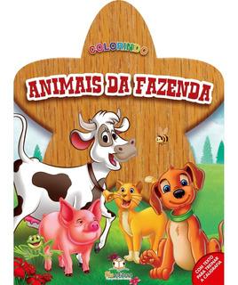Livro Colorindo Animais Da Fazenda Blu Editora