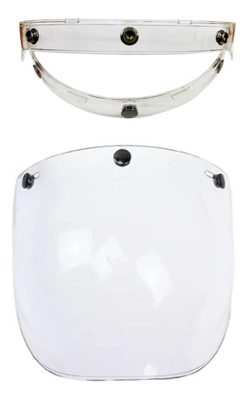 Mica Burbuja Abatible Para Casco Chopper Abierto 3/4 Clara