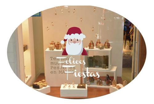 Imagen 1 de 10 de Vidrieras Plotter Vinilos Navidad Felices Fiestas