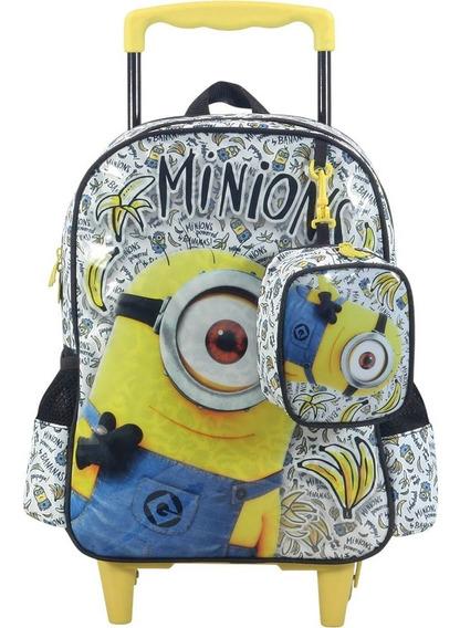 Mochila Rodinhas Infantil Minions Bananas 6890 Preto 16