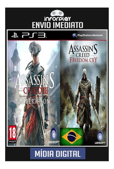Assassins Creed Liberation + Freedom Cry Ps3 Psn Br Digital