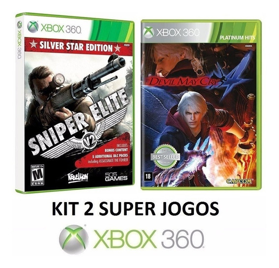 Sniper Elite V2 + Devil May Cry 4 - Midia Fisica - Xbox 360