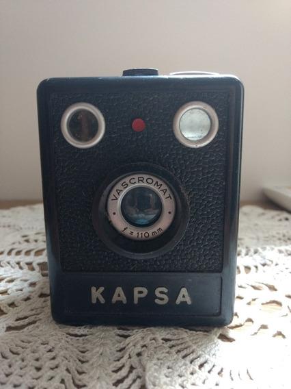Câmera Antiga Kapsa Pinta Vermelha Para Coleção Ou Decoração
