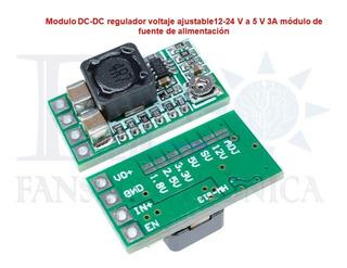 Mini Dc-dc 12-24 V A 5 V 3a Módulo De Fuente De Alimentación