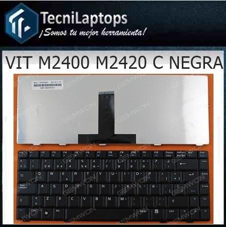 Teclado Laptop M2400 M2420 35peras Carcasa Negra Somos Tied