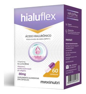 Hialuflex Ácido Hialurônico + Vitaminas A, C, E, Zinco - 60 Cápsulas Maxinutri