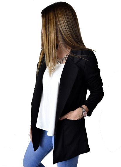 Blazer Saco Largo Lima Naranja Blanco Mujer The Big Shop