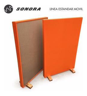 Panel Acústico Móvil / 80x150 Lana De Roca