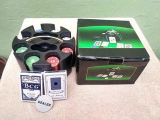 Kit Para Poker Com Fichas Aceito Cartões Crédito / Débito
