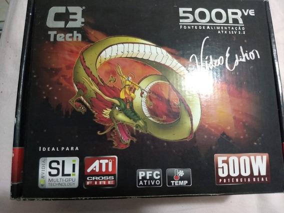 Fonte De Alimentação C3tech 500r Ve