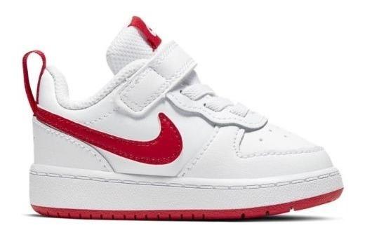 Tenis Originales Nike Court Borough Low 2 3103 Blanco Bebé