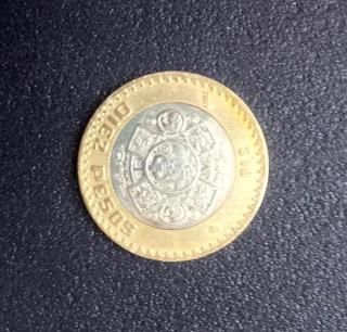 Monedas 10 Pesos Grafila Invertida