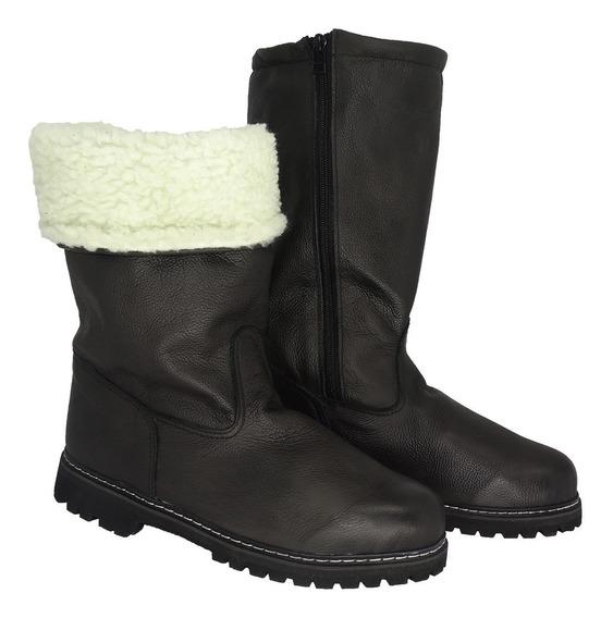 Bota Bogan Ugg Couro Legítimo Forrada Com Lã P/ Neve Inverno