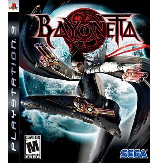 Jogo Bayonetta Playstation 3 Tiro Guerra Sega Ps3 Blu-ray