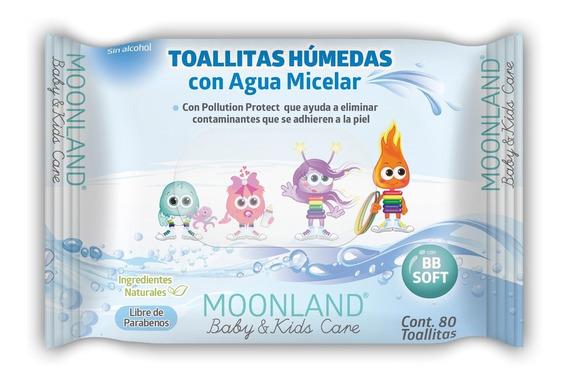 Moonland Toallitas Húmedas Para Bebé Únicas Con Agua Micelar