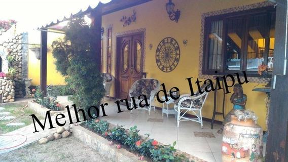 Linda Casa Rua Fechada Itaipu 3 Quartos Lazer Piscina Anexo - 437