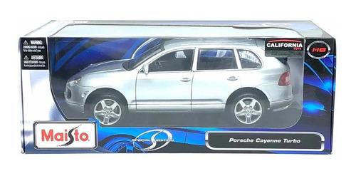 Imagem 1 de 6 de Miniatura De Porsche Cayenne Turbo Prata 1:18 Maisto