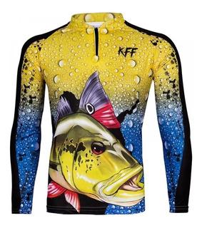 Camisa, Camiseta De Pesca King Proteção Uv Kff 60