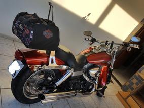 Harley Davidson Fatbob Laranja Flake