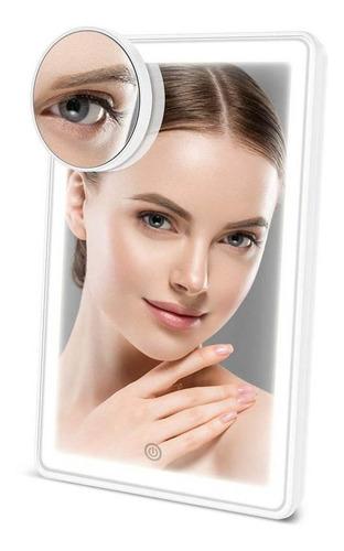Espelho Led Portátil P/ Maquiagem 3 Cores Led (72 Leds) Aevo