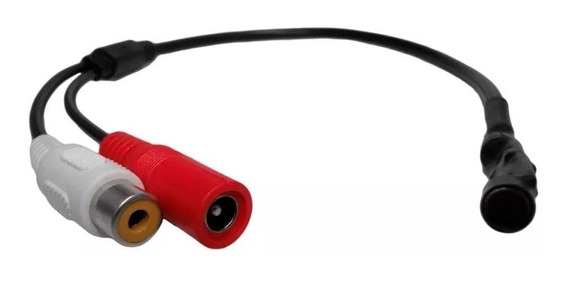 Microfone Para Camera Circuito Fechado Dvr Cftv Amplificado