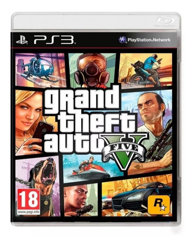 Imagen 1 de 5 de Grand Theft Auto V Standard Edition Rockstar Games PS3  Físico