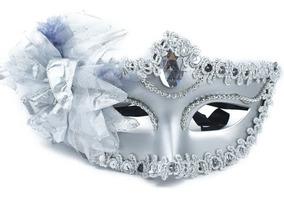 Máscara Feminina Cinza Halloween Carnaval Festa Mod9