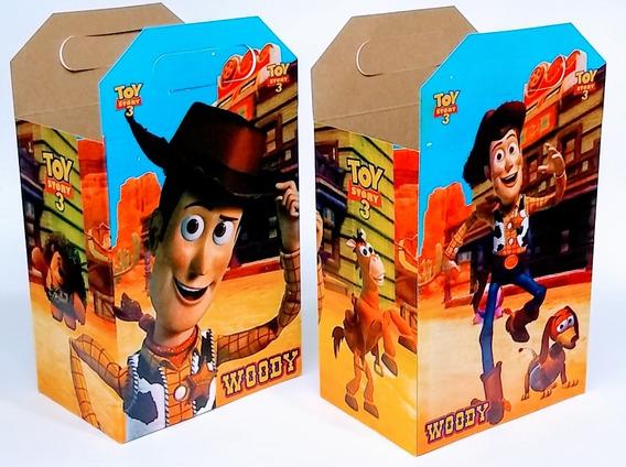 Woody 50 Cajas Dulceras Artículos De Fiestas C/envío