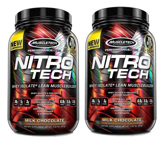 Nitro Tech 2 Lb X 2 Unidades Muscletech Proteina