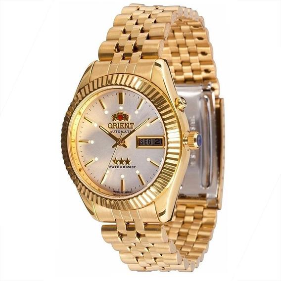 Relógio Orient Médio Automático Dourado 469ec7b1kx