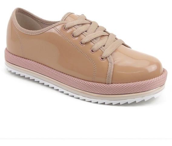 Sapato Feminino Beira Rio Com Solado Tratorado Em Verniz