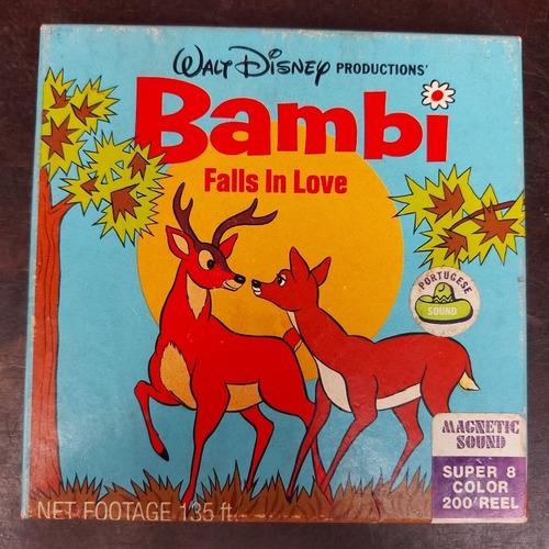 Imagem 1 de 7 de Filme Super 8 Desenho Bambi Falls In Love Usa Sem Testar