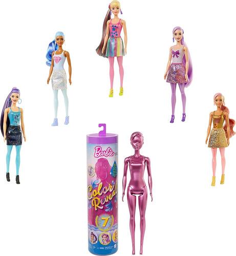 Barbie Color Reveal Muñeca 7 Sorpresas Original Mattel