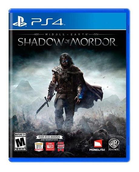 Middleearth Shadow Of Mordor Ps4 Mídia Física Pronta Entrega