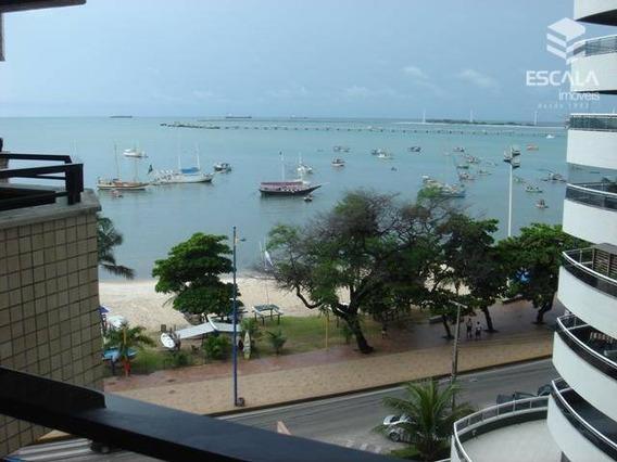 Flat Com 1 Quarto À Venda E Locação, 46 M², Mobiliado, Vista Mar - Mucuripe - Fortaleza/ce - Fl0015