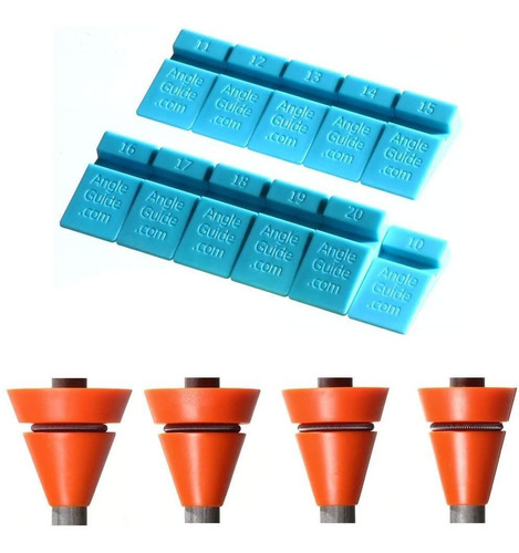Imagen 1 de 6 de Wedgek Az4 - Guias De Angulo, Color Azul Para Afilar Piedr